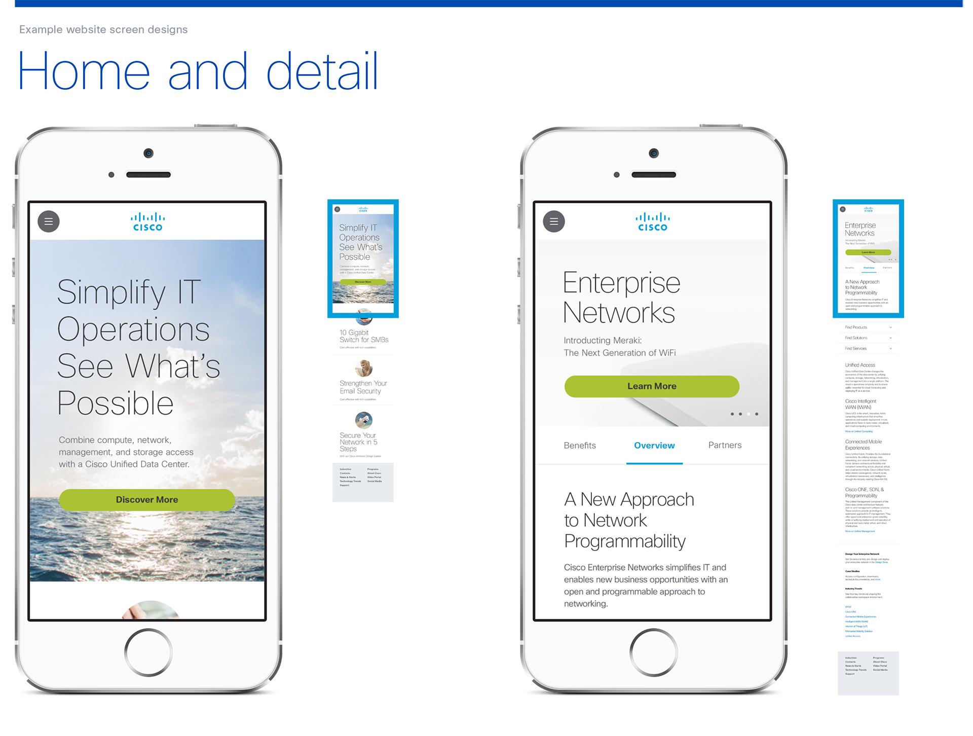 Cisco Mobile UI Design